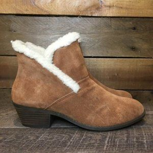 NEW Me Too Zanna Shearling Collar Ankle Booties